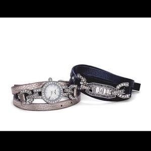 NIB Chloe + Isabel Wrap Watch Bracelet Set